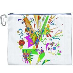 Splatter Life Canvas Cosmetic Bag (xxxl)
