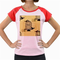Victorian Birdcage Women s Cap Sleeve T-Shirt (Colored)
