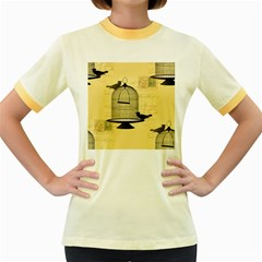 Victorian Birdcage Women s Ringer T-shirt (Colored)