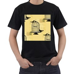 Victorian Birdcage Men s Two Sided T Shirt (black)
