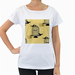 Victorian Birdcage Women s Loose-Fit T-Shirt (White)