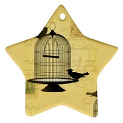 Victorian Birdcage Star Ornament (two Sides)