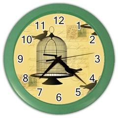 Victorian Birdcage Wall Clock (color)
