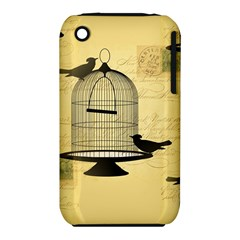 Victorian Birdcage Apple iPhone 3G/3GS Hardshell Case (PC+Silicone)