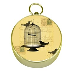 Victorian Birdcage Gold Compass