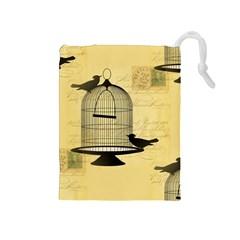 Victorian Birdcage Drawstring Pouch (Medium)