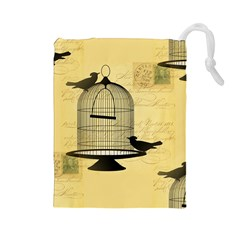 Victorian Birdcage Drawstring Pouch (Large)