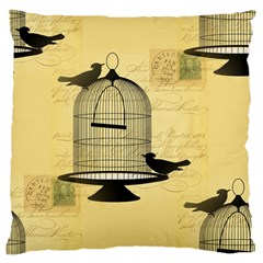 Victorian Birdcage Large Flano Cushion Case (Two Sides)
