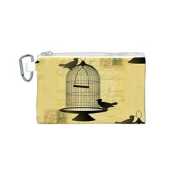 Victorian Birdcage Canvas Cosmetic Bag (Small)