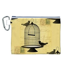 Victorian Birdcage Canvas Cosmetic Bag (Large)
