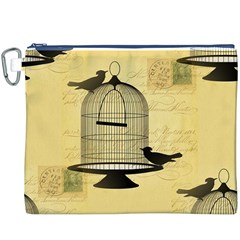 Victorian Birdcage Canvas Cosmetic Bag (xxxl)