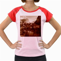 Native American Women s Cap Sleeve T-Shirt (Colored)