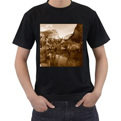Native American Men s Two Sided T-shirt (Black)