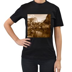 Native American Women s Two Sided T-shirt (Black)