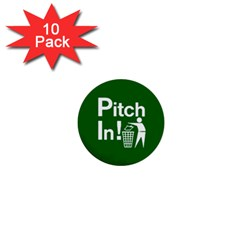 Pitch In! Mini Buttons