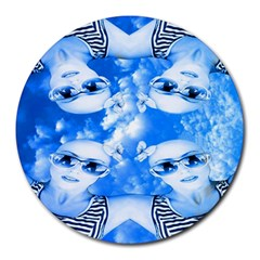 Skydivers 8  Mouse Pad (round)