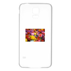 Flower Samsung Galaxy S5 Back Case (White)