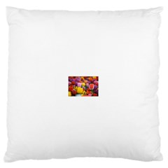 Flower Large Flano Cushion Case (One Side)