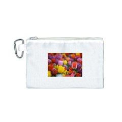Flower Canvas Cosmetic Bag (Small)