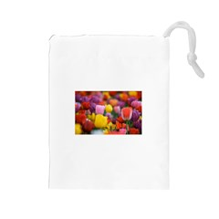 Flower Drawstring Pouch (Large)