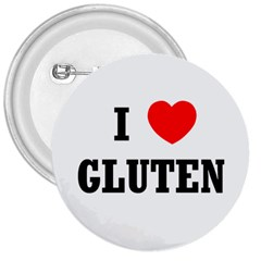 I Heart Gluten 3  Button