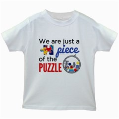 Piece of the Puzzle: Kids T-shirt (White)