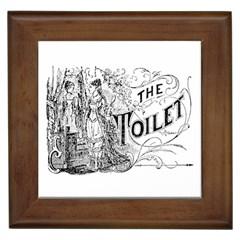 The Toilet Framed Ceramic Tile