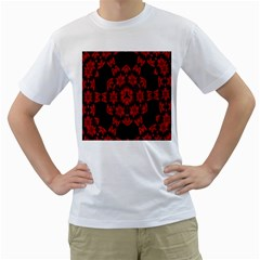 Red Alaun Crystal Mandala Men s Two-sided T-shirt (White)