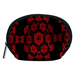 Red Alaun Crystal Mandala Accessory Pouch (Medium)