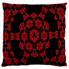 Red Alaun Crystal Mandala Large Flano Cushion Case (Two Sides)