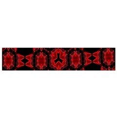 Red Alaun Crystal Mandala Flano Scarf (Small)