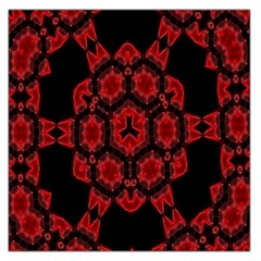 Red Alaun Crystal Mandala Large Satin Scarf (Square)