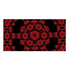 Red Alaun Crystal Mandala Satin Shawl