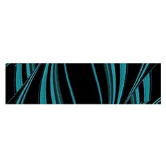 Dark Abstract Print Satin Scarf (Oblong)