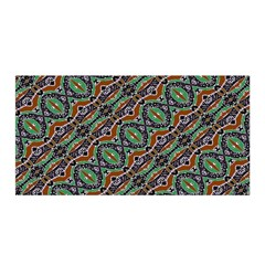 Colorful Tribal Geometric Print Satin Wrap