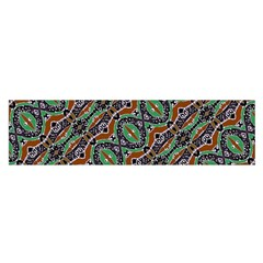 Colorful Tribal Geometric Print Satin Scarf (oblong)