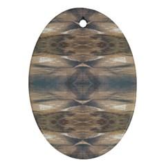 Wildlife Wild Animal Skin Art Brown Black Oval Ornament