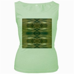Wildlife Wild Animal Skin Art Brown Black Women s Tank Top (green)