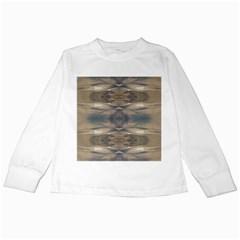 Wildlife Wild Animal Skin Art Brown Black Kids Long Sleeve T Shirt
