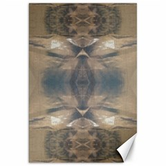 Wildlife Wild Animal Skin Art Brown Black Canvas 20  X 30  (unframed)