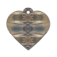 Wildlife Wild Animal Skin Art Brown Black Dog Tag Heart (one Sided)