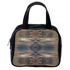 Wildlife Wild Animal Skin Art Brown Black Classic Handbag (one Side)