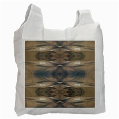 Wildlife Wild Animal Skin Art Brown Black White Reusable Bag (two Sides)