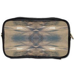 Wildlife Wild Animal Skin Art Brown Black Travel Toiletry Bag (two Sides)