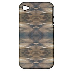 Wildlife Wild Animal Skin Art Brown Black Apple Iphone 4/4s Hardshell Case (pc+silicone)