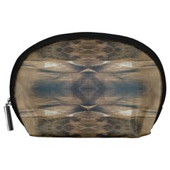 Wildlife Wild Animal Skin Art Brown Black Accessory Pouch (Large)