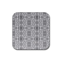 Grey White Tiles Geometry Stone Mosaic Pattern Drink Coaster (square)