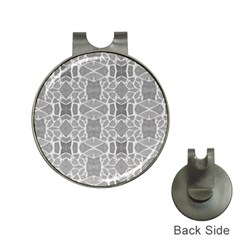 Grey White Tiles Geometry Stone Mosaic Pattern Hat Clip with Golf Ball Marker