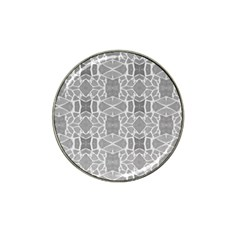 Grey White Tiles Geometry Stone Mosaic Pattern Golf Ball Marker 4 Pack (for Hat Clip)