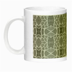 Grey White Tiles Geometry Stone Mosaic Pattern Glow In The Dark Mug